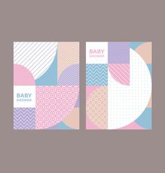 Concept pastel color geometric pattern vector