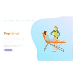 Depilation service beauty procedure online order vector