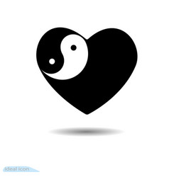 design elements for valentine s day yin yang vector image