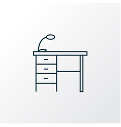 Desk icon line symbol premium quality isolated vector