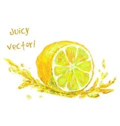 Drawing slice lemon vector