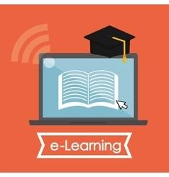e-learning icon design vector image