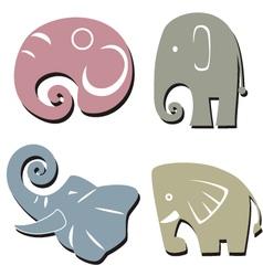 Elephant graphic icon vector