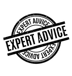 Expert advice rubber stamp vector
