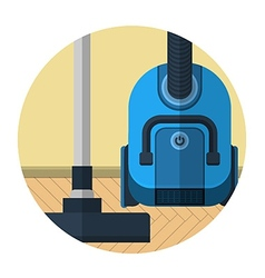 Flat icon for vacuum cleaner in room vector image
