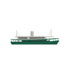 Flat icon of famous hong kong ferry large vector