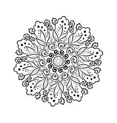 flower mehndi round ornament mandala vintage vector image