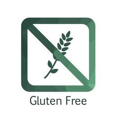 gluten free icon vector image