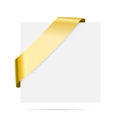 Golden corner ribbon - design element vector