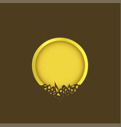 Golden label icon vector