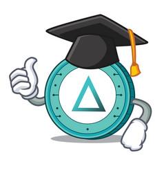 graduation salt coin character cartoon vector image
