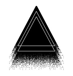 Graphic triangular shape vector