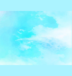 hand painted watercolor sky and clouds abstract vector image