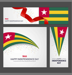 happy togo independence day banner and background vector image