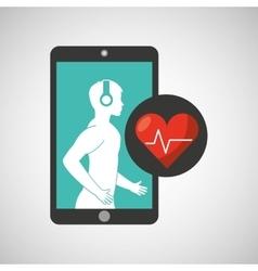Healthcare app cardiology heart graphic vector