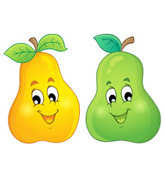 Image with pear theme 3 vector