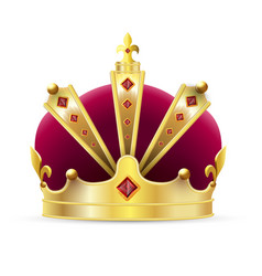 imperial crown vector image