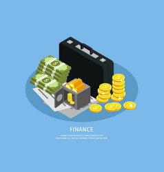 Isometric business finance concept vector