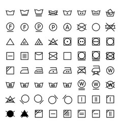 Laundry icons set in line style vector