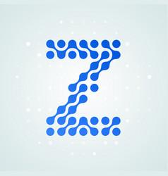 letter z logo halftone icon vector image