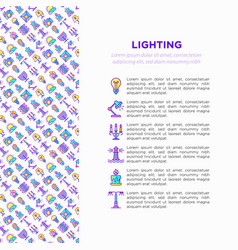 lighting concept with thin line icons vector image