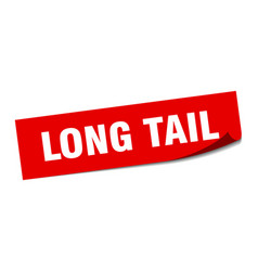 Long tail sticker long tail square sign long tail vector