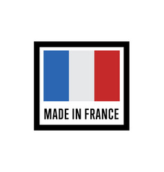 made in france isolated label for products vector image