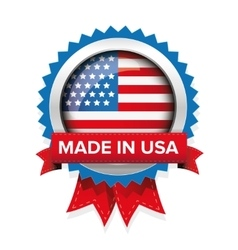 Made in USA badge vector