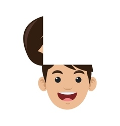 Male head with top open icon vector