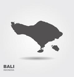 map island bali indonesia vector image