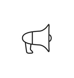 megaphone noise icon vector image