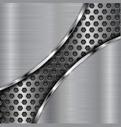 metal background with diagonal perforation vector image