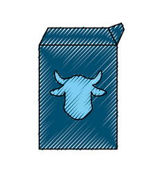 Milk carton cow vector