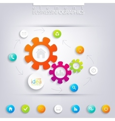 Modern infographic design Can be used for workflow vector image