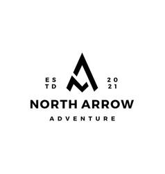 Na letter mark north arrow compass logo icon vector