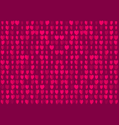 neon hearts seamless background romantic blurred vector image