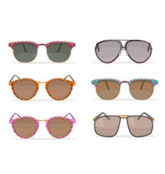 Old school sunglasses set vector image
