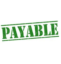 payable sign or stamp vector image