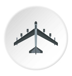 plane icon circle vector image