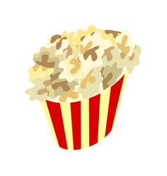 Popcorn box icon traditional salty sweet snack vector