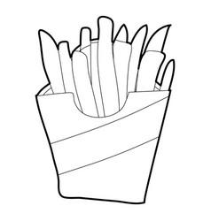 potato fri icon outline style vector image
