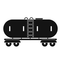 Railroad gasoline and oil tank icon vector