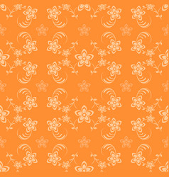 Seamless background with flowers vector