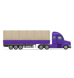Semi truck trailer 03 vector