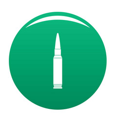 Small bullet icon green vector