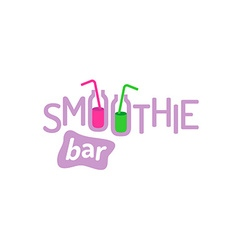 Smoothie text logo vector
