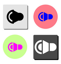 sound flat icon vector image