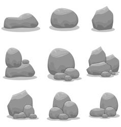 Stones set element art vector