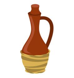 stylized of wine jug image vector image