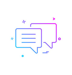 text chat bubble icon design vector image